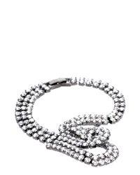 ASOS Collection - Metallic Stone Knot Bracelet - Lyst