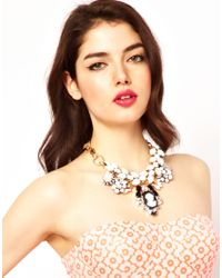 ASOS Collection | White Queen Cameo Necklace | Lyst