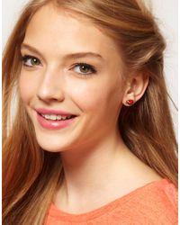 Cath Kidston - Red Ladybird Enamel Earrings - Lyst