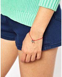 Cath Kidston - Red Stanley Friendship Bracelet - Lyst
