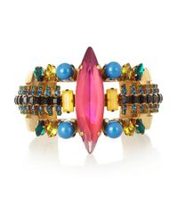 Erickson Beamon | Pink Aquarela Do Brasil Goldplated Swarovski Crystal Cuff | Lyst
