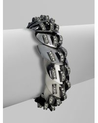 Giles & Brother - Gray Nara Paveacute Bracelet - Lyst