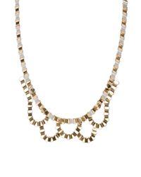 John & Pearl | White John Pearl Loop Necklace | Lyst