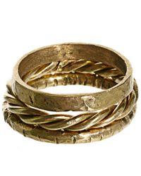 ASOS - Metallic Made Set Of Three Stacking Rings - Lyst