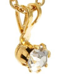 ASOS | White Vintage 80s Diamante Drop Necklace | Lyst