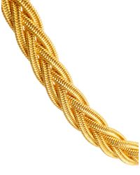 ASOS - Metallic Vintage 90s Braid Necklace - Lyst
