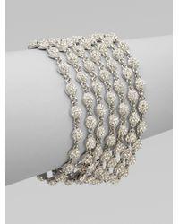 Adriana Orsini - Metallic 7row Pavé Crystal Bracelet - Lyst