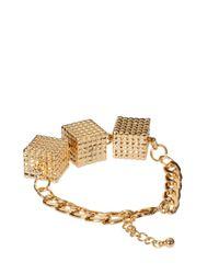 ASOS Collection - Metallic Asos Cube Bracelet - Lyst