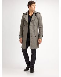 Burberry - Gray Trench 37 Classic Trench for Men - Lyst