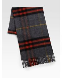 Burberry - Gray Giant Iconic Scarf for Men - Lyst