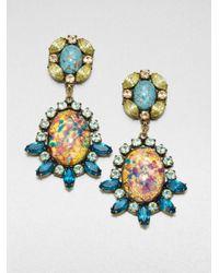 DANNIJO - Blue Paz Mottled Drop Earrings - Lyst