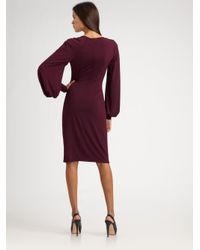 David Meister - Purple Bell Sleeve Jersey Dress - Lyst