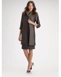 Eileen Fisher - Gray Long Silkcotton Jacket - Lyst