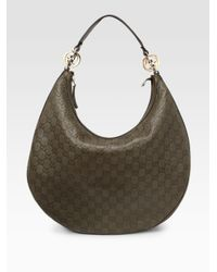 Gucci - Green Gg Twins Large Hobo - Lyst
