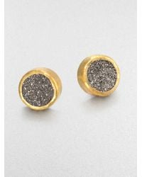 Gurhan | Metallic Druzy Sterling Silver 24k Yellow Gold Earrings | Lyst