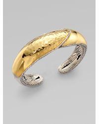John Hardy | Metallic 22k Gold Sterling Silver Kick Cuff Bracelet | Lyst