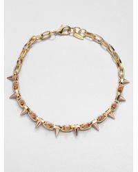 Joomi Lim - Metallic 16k Goldplated Chain Spike Choker - Lyst