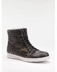 Jump - Black Vanquish High-top Sneakers / Scaled Leather for Men - Lyst