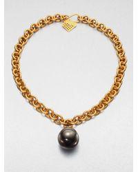 Kelly Wearstler - Black Sphere Pendant Necklace - Lyst