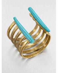 Kelly Wearstler - Green Banded Cuff Bracelet - Lyst