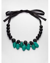 Marni - Black Beaded Resin Necklace - Lyst
