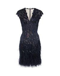 Matthew Williamson | Black Blue and Gold Embroidered Taj Tapestry Mini Skirt | Lyst