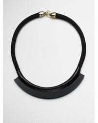 Orly Genger By Jaclyn Mayer | Black Fiona Enamel Rope Mini Bib Necklace | Lyst