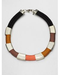 Orly Genger By Jaclyn Mayer - Orange Cordelia Thread Wrapped Rope Necklace - Lyst
