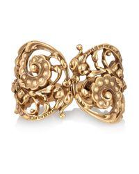 Oscar de la Renta | Metallic Goldplated Scroll Cuff | Lyst