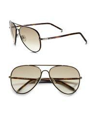 Tod's - Metallic Tubular Aviator Sunglasses - Lyst