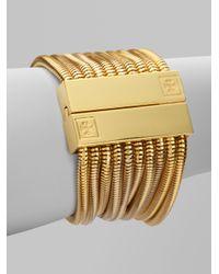 Tory Burch | Metallic Multistrand Snake Chain Bracelet | Lyst