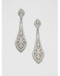 Adriana Orsini | Metallic Art Deco Crystal Drop Earrings | Lyst