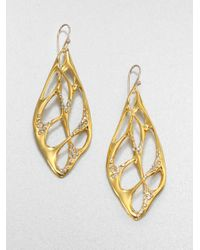 Alexis Bittar - Metallic Sparkle Web Drop Earrings - Lyst