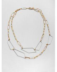 Alexis Bittar - Metallic Geometric Link Doublerow Necklace - Lyst