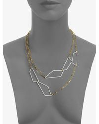 Alexis Bittar - Metallic Geometric Link Doublerow Necklace - Lyst