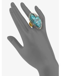 Alexis Bittar | Blue Elements Cordova Chrysocolla & Crystal Ring | Lyst