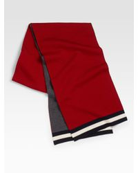 Bally - Red Reversible Carmine Shawl Scarf for Men - Lyst