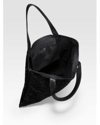 Comme des Garçons - Black Small Star Embossed Leather Tote - Lyst