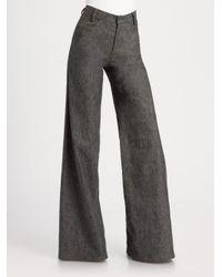 Derek Lam | Black Flared Denim Trousers | Lyst