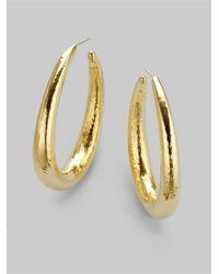 Ippolita | Metallic 18K Yellow Gold Long Hoop Earrings/2.5 | Lyst