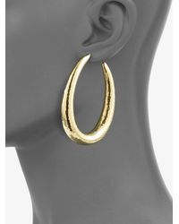 Ippolita - Metallic 18K Yellow Gold Long Hoop Earrings/2.5 - Lyst