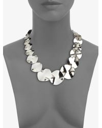 Ippolita - Metallic Glamazon Scultura Sterling Silver Wavy Disc Collar Necklace - Lyst