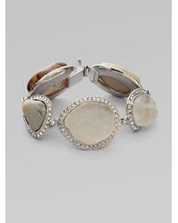 Isaac Mizrahi New York - Metallic Crystal Resin Rock Bracelet - Lyst