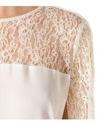 Maje   White Adequat Lace Cape Dress   Lyst