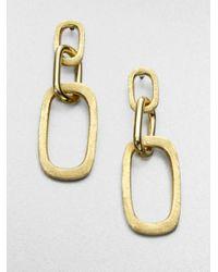 Marco Bicego | Metallic Murano 18k Yellow Gold Link Drop Earrings | Lyst