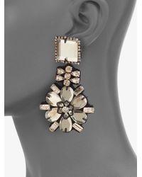 Ranjana Khan - White Mirrored Flower Drop Earrings - Lyst