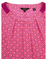 Ted Baker - Pink Beaulah Geo Print Top - Lyst