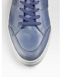 Tod's | Blue Polacco Sport Cassetta Sneakers/leather for Men | Lyst
