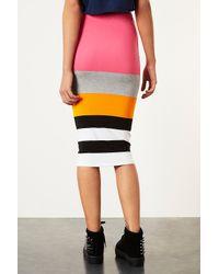 Topshop   Multicolor Colour Block Stripe Tube   Lyst