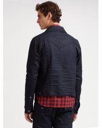 True Religion - Black Midnight Denim Jacket for Men - Lyst